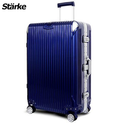 starke德國設計28吋PC+ABS鏡面鋁框硬殼行李箱B系列B200-藍色【008003-03】 (5折)