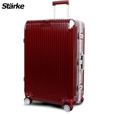 starke德國設計28吋PC+ABS鏡面鋁框硬殼行李箱B系列金屬紅【008003-04】 (5折)