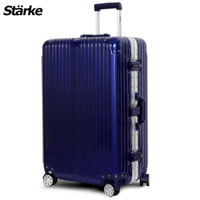 starke 德國設計28吋 PC+ABS 鏡面鋁框硬殼行李箱A系列藍色 【008001-06】 (5折)