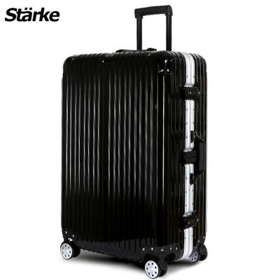 starke 德國設計28吋 PC+ABS 鏡面鋁框硬殼行李箱A系列黑色 【008001-04】 (5折)