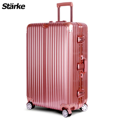 starke 德國設計28吋 PC+ABS 鏡面鋁框硬殼行李箱A系列玫瑰金 【008001-03】 (5折)