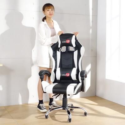 概念家居-皮面電競椅紅黑/白黑電腦椅  賽車椅 皮椅 DIY-RD919 DIY-WE919