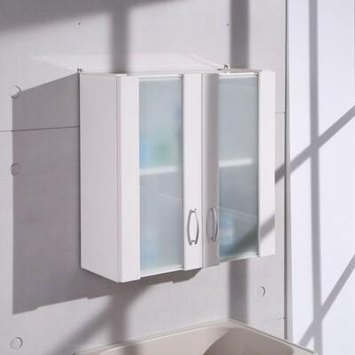 概念家居|60CM霧玻塑鋼浴櫃歐式吊櫃 壁櫃 櫥櫃 廚房 飾品櫃 化妝櫃 浴室專用 C1021W (7.7折)