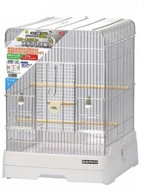 日本SANKO鳥籠 C92 304不鏽鋼觀景台式精緻鳥籠 (7折)