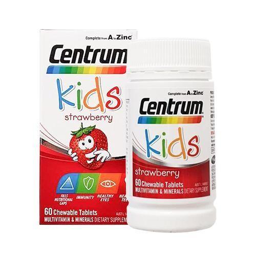 善存 兒童綜合維他命咀嚼片(草莓口味)60錠 澳洲空運來台
