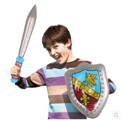 新款兒童玩具充氣劍盾套裝男孩禮物遊戲整蠱益智活動道具 (6.4折)