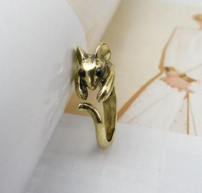 E4071 韓國飾品可愛生肖女式小老鼠戒指尾戒指環 (4.8折)