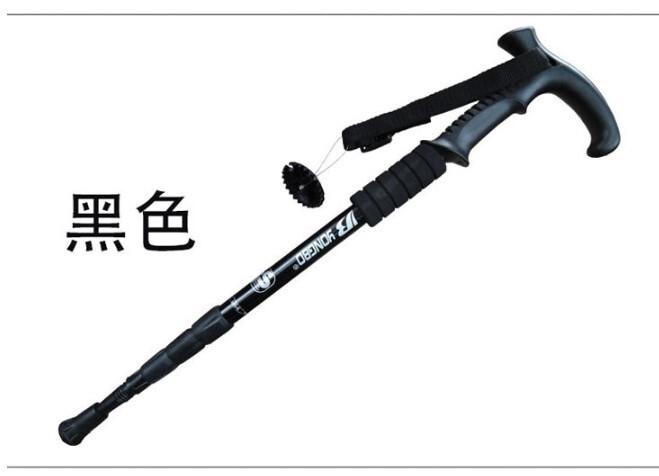 戶外用品超輕鋁合金登山杖非碳素6061四節伸縮登山手杖拐杖
