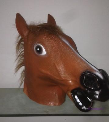 萬聖節促銷馬頭面具動物頭套馬面具犬馬君馬面具天然環保乳膠 (6.4折)