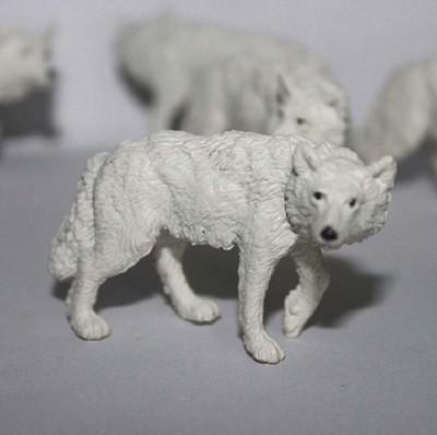 safari 正版仿真模型玩具野生動物擺件小號北極狼 (6折)
