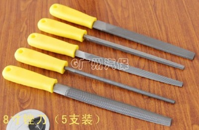5PS 銼刀8寸整形銼木工銼鉗工銼扁半圓三角汽修汽保工具 (7.1折)