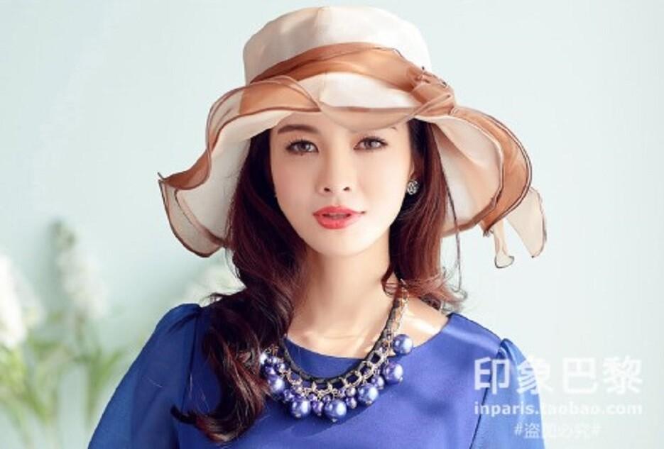 百搭沙灘帽子可折疊女士防曬遮陽帽夏天海邊太陽帽女出遊
