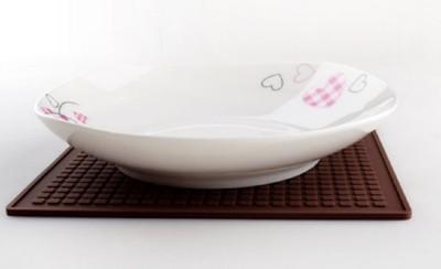 創意歐式餐墊矽膠杯墊碗墊隔熱墊方形鍋墊盤墊廚房餐桌墊大號防燙 (7.6折)
