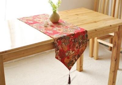 復古典雅民族創意餐桌桌布酒店臥室床尾巾樣板房茶几電視櫃裝飾布 (7.6折)