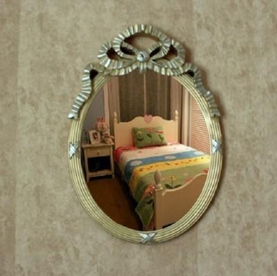 歐式複古橢圓形壁掛鏡浴室鏡子化妝鏡美容鏡儀容鏡梳妝鏡裝飾鏡子 (9.7折)