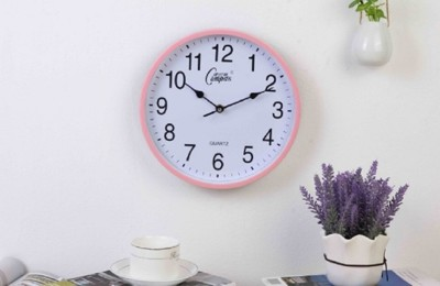 現代創意10寸圓形鐘錶靜音時尚掛鐘臥室客廳時鐘掛錶簡約石英鐘 (8.7折)