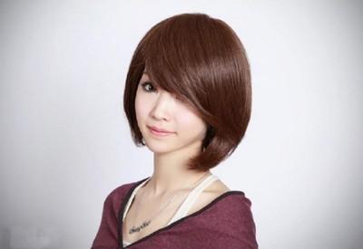 新款實拍女生短髮假髮斜劉海短髮包臉BOBO波波頭沙宣假髮仿真短髮 (6.9折)