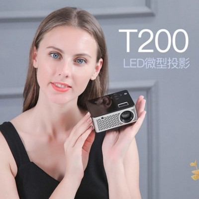 LILENG超微型T200 觸控式高解析投影機迷你輕便LED投影機/ (5折)
