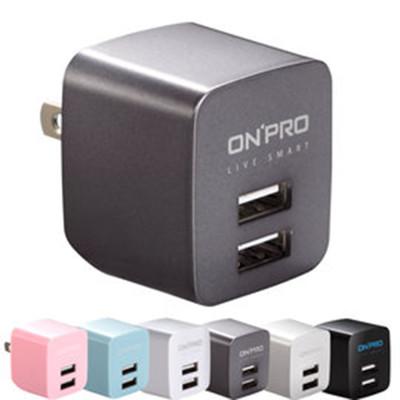 【ONPRO】UC-2P01 USB雙埠電源供應器/充電器(5V/2.4A) (6.6折)