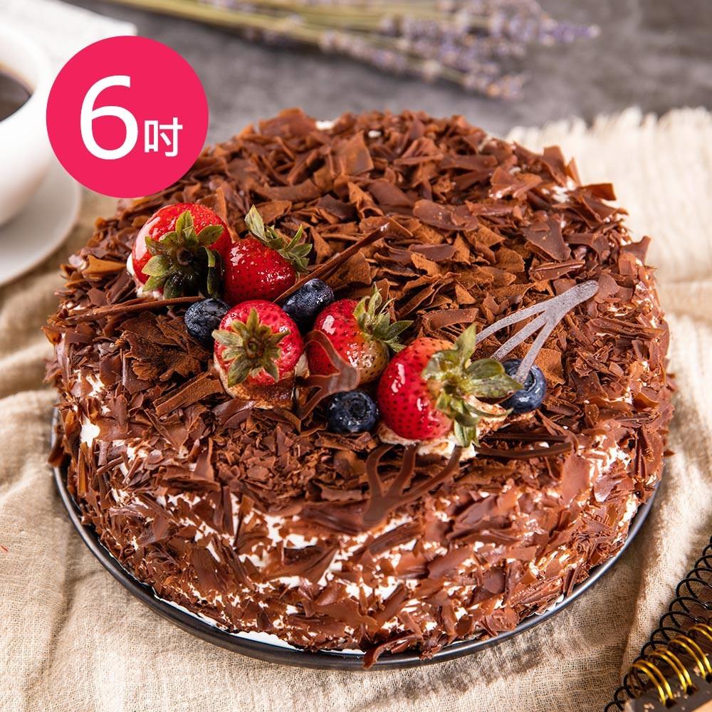 樂活e棧-生日快樂蛋糕-魔法黑森林蛋糕(6吋/顆)