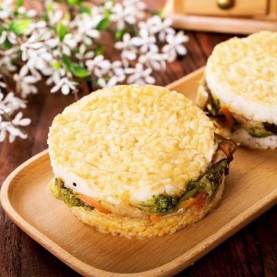 【樂活e棧】鮮蔬米漢堡-素食可食(6顆/包) (6.4折)