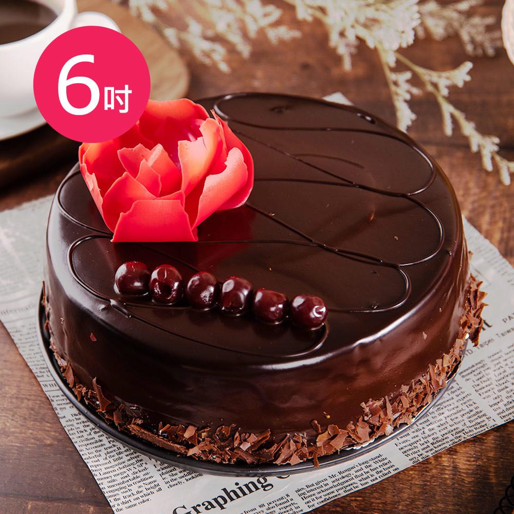 樂活e棧-生日快樂蛋糕-微醺愛戀酒漬櫻桃蛋糕(6吋/顆)