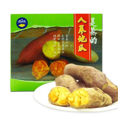 【樂活e棧】瓜瓜園-蒸的蕃薯人蔘地瓜(600g/盒,共2盒) (5.1折)
