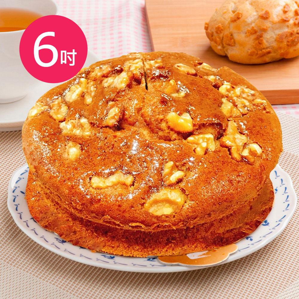 樂活e棧-生日快樂蛋糕-香蕉核桃蛋糕(6吋/顆)
