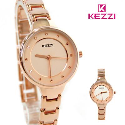 KEZZI珂紫 KW-1691 小巧輕女孩玫色手鍊錶 (6.1折)