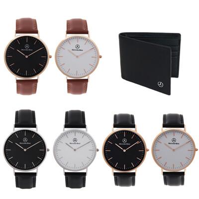 賓士 Mercedes-Benz 1+1型男老爸皮夾手錶組合 (4.1折)