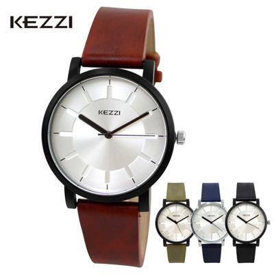 珂紫 K-1668 光芒刻度復古刷色皮帶錶 (5.7折)