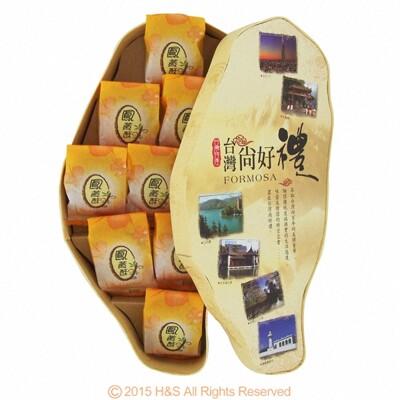 台灣寶島鳳黃酥禮盒(9入)附專屬提袋 (7.6折)