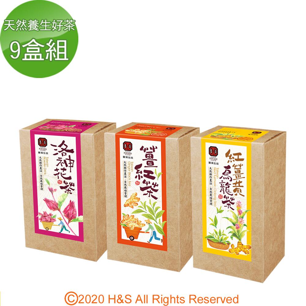 豐滿生技天然養生好茶9盒組