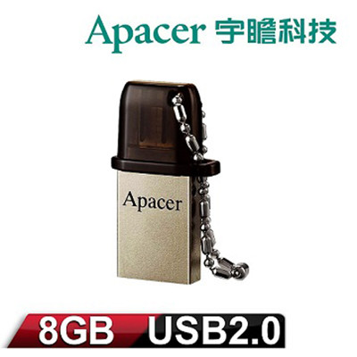 Apacer宇瞻 AH175 8GB OTG雙介面 鋅合金英國紳士隨身碟 (4.1折)