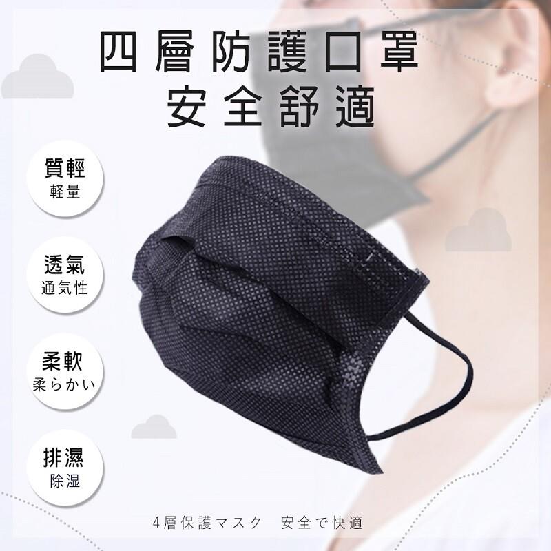 四層熔噴防護口罩(一盒50入)