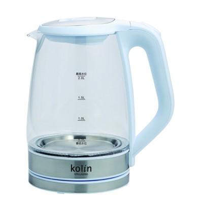 【歌林】藍光時尚玻璃快煮電茶壺 KPK-LN205G (7.4折)