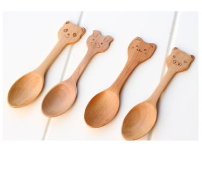 可愛動物兒童匙 湯匙 木匙 攪拌匙 茶匙 餐具 (3.4折)