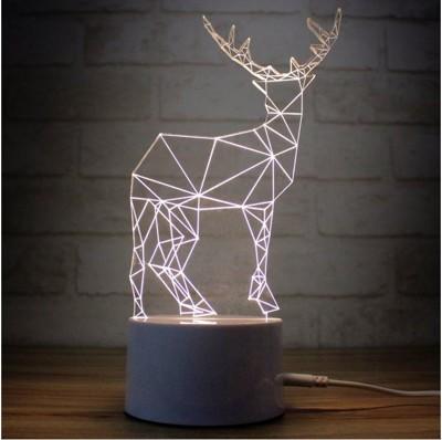 聖誕禮物 LED節能 3D觸控夜燈 麋鹿 氣氛燈 (5.2折)