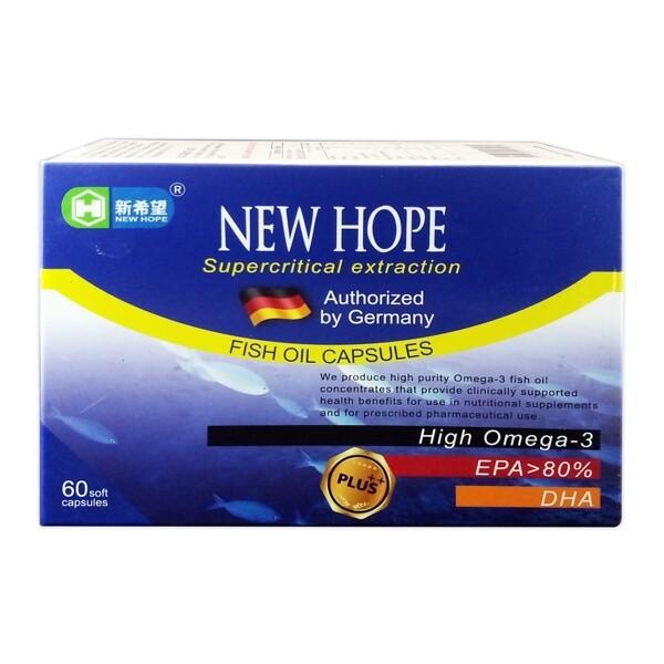 新希望 德國 精純魚油軟膠囊 60粒/盒