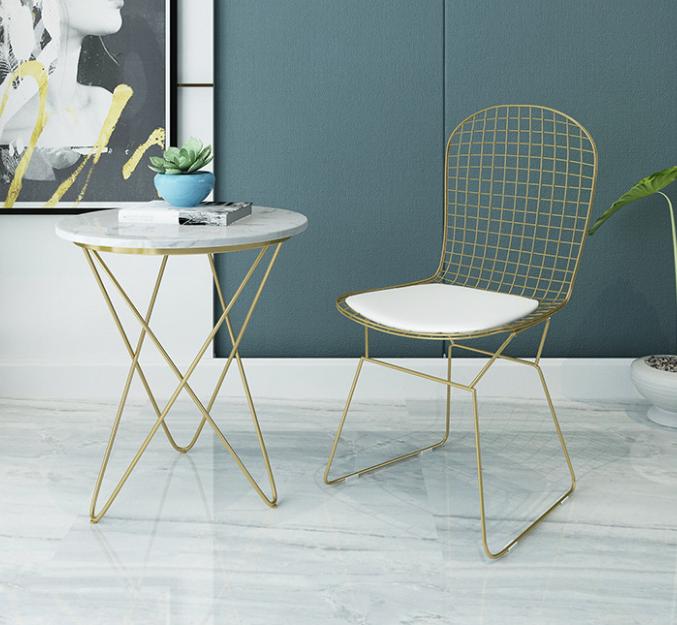茶几 桌子 圓桌 40*62cm 北歐大理石邊幾茶幾簡約客廳沙發小圓桌戶型陽臺角幾輕奢床頭桌櫃