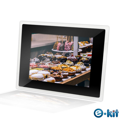 逸奇e-Kit 10.2吋相框電子相冊(共四款)-透明邊框黑色款 DF-V501_TB (7.1折)