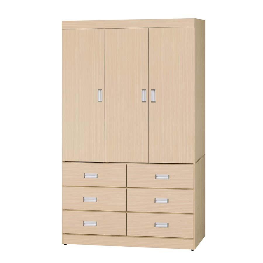 白橡色4*7尺衣櫥