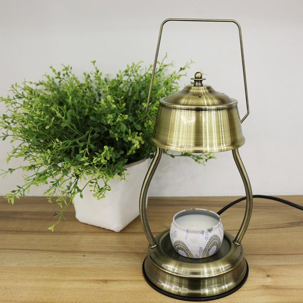 hoi復古香氛蠟燭暖燈-青古銅色 送 voluspa蠟燭-日光和煦