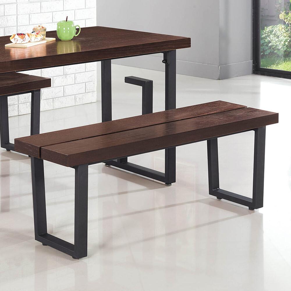 胡木紋長條椅