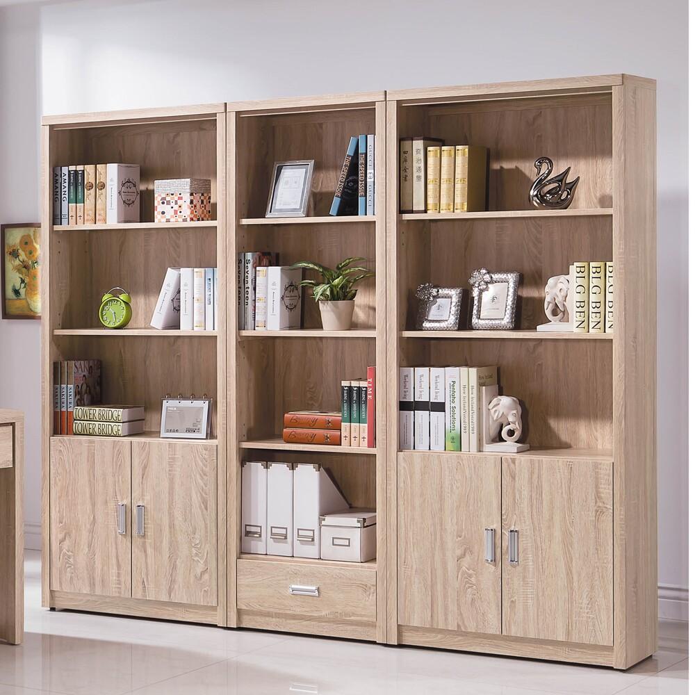 橡木色7.2尺書櫃組