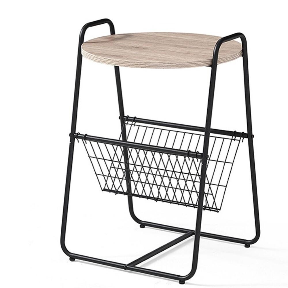 現代簡約北歐創意迷你鐵製沙發邊几ls093j2-b