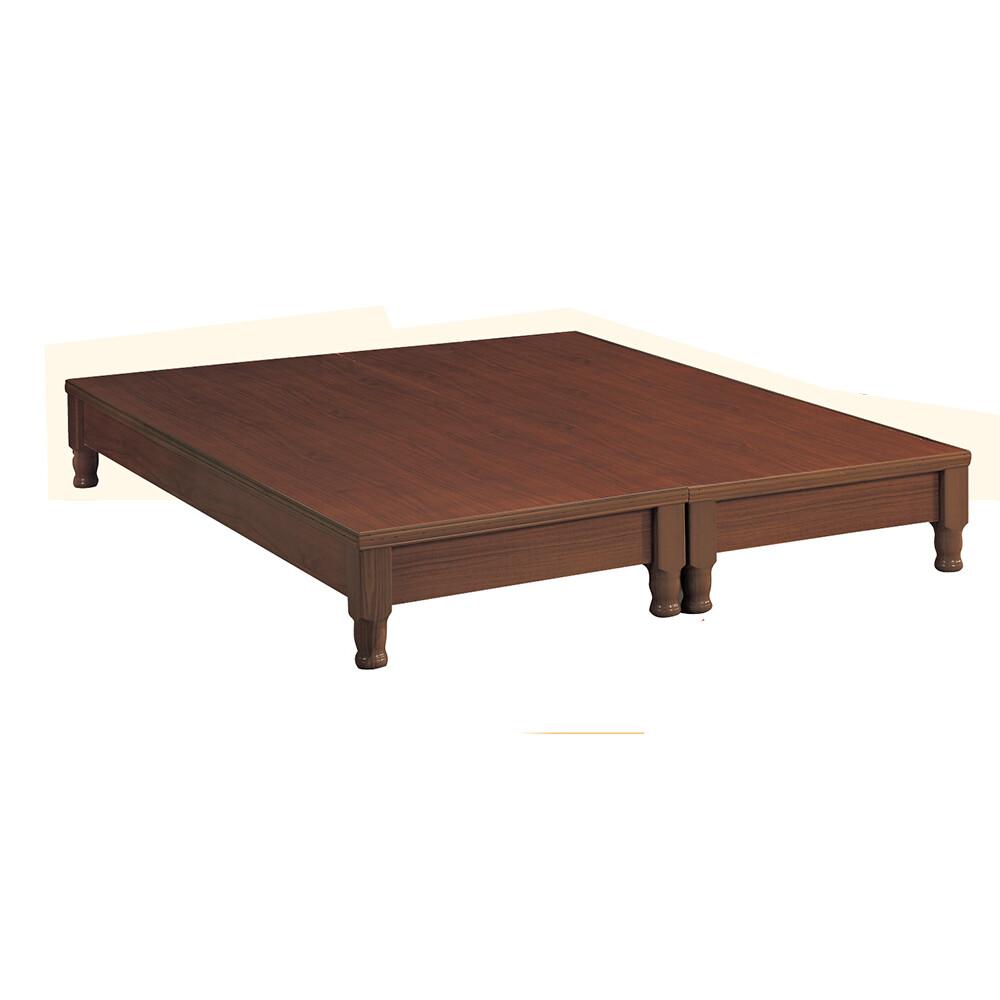 樟木色6尺車枳型床底