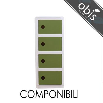 obis方形經典款造型四層收納櫃 (6.6折)