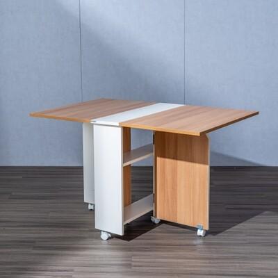 【obis】DIY簡易伸縮可移動折疊餐桌1.2米wt043-8 (6.6折)