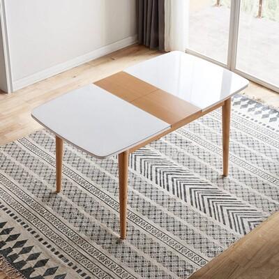 【obis】北歐櫸木現代簡約可伸縮餐桌DK1R V2 (7.6折)